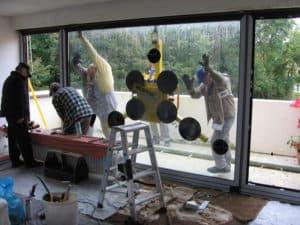 Glassauger zur Fenstermontage